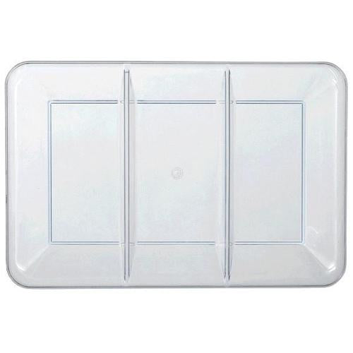 "Plastic Compartment Tray Clear 9 1/2 x 14"" - Amscan"