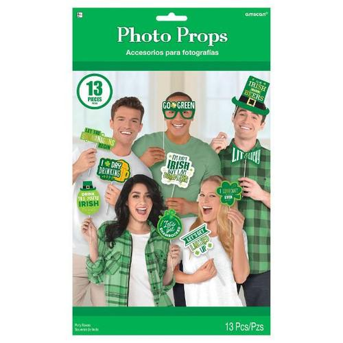 St Patrick's Day Fun Phrases Photo Props - Amscan