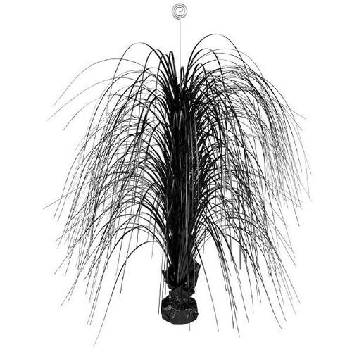 Jet Black Large Foil Spray Centerpiece - Amscan