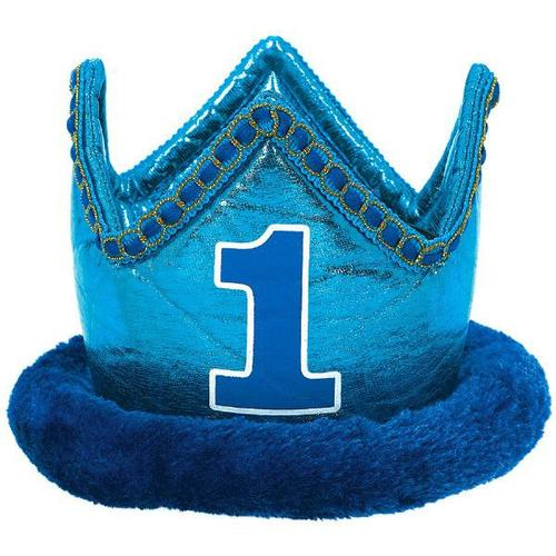 1St Bday Blue Novelty Crown - Amscan