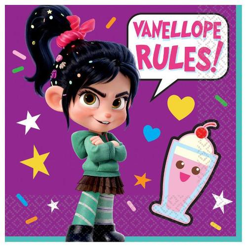 Wreck It Ralph 2 Beverage Napkins 16ct - Amscan