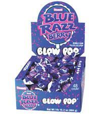 Blow Pop Blue Razz Berry 48/.65oz - Charms Company