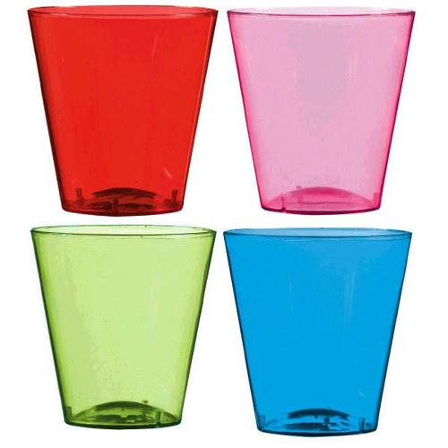 Shot Glasses Assorted Colors 40ct - Amscan