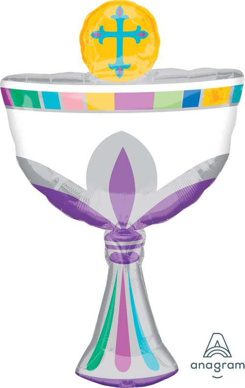 "Supershape Communion Cup 31"" Balloon - Anagram"
