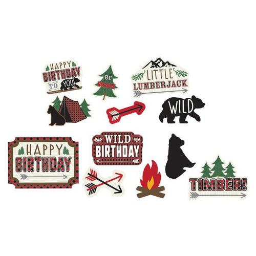 Little Lumberjack Birthday Cutouts 12ct - Amscan