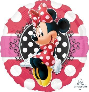 "17"" Minnie Portrait Foil Balloon - Flat - Anagram"