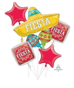Fiesta Papel Picado Balloon Bouquet - Anagram