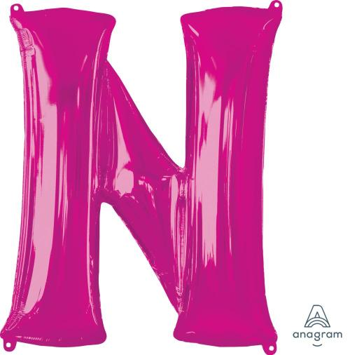 Supershape Pink Letter N  Balloon - Anagram