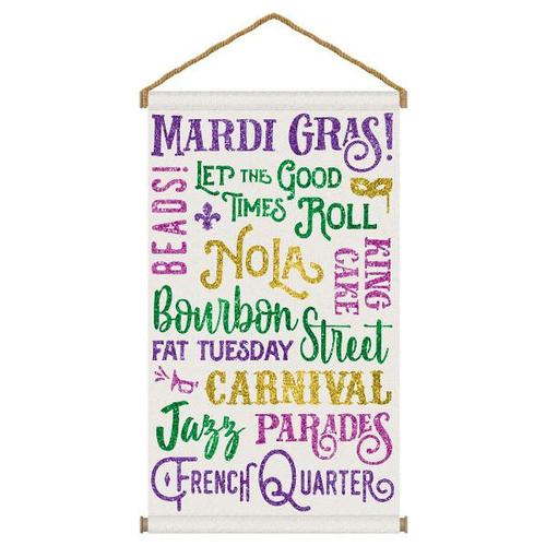 Mardi Gras Large Hanging Sign - Amscan