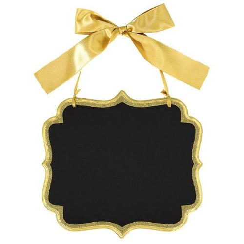 Chalkboard Sign Large Glitter Gold Border - Amscan