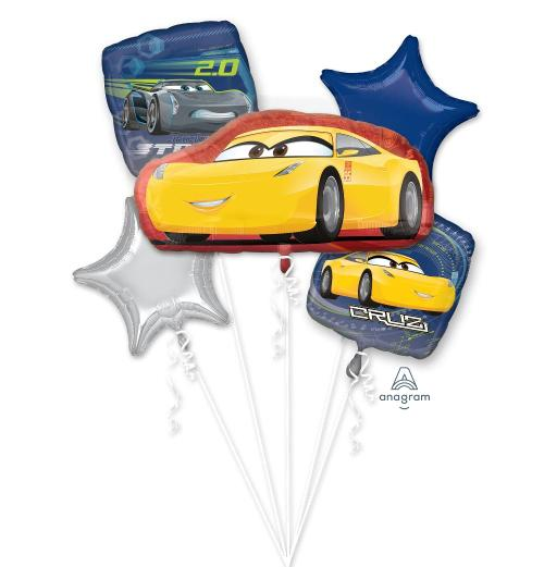 Cars 3 Yellow Balloon Bouquet - Anagram