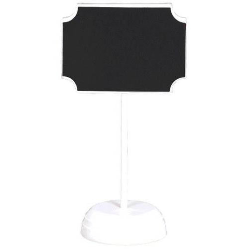 Chalkboard Standing Sign White Plastic 4ct - Amscan