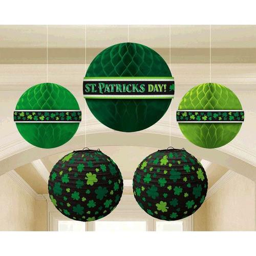 St Patrick's Day Hanging Bouquet 5ct - Amscan