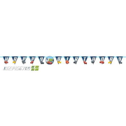 Cars 3 Jumbo Birthday Banner