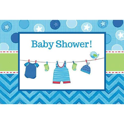 Shower Boy Invitations - Amscan