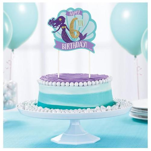 Mermaid Wishes Custom Cake Decoration - Amscan