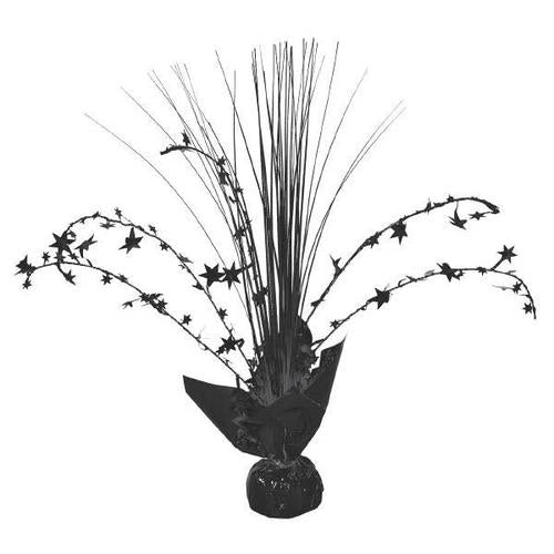 Jet Black Foil Spray Centerpiece - Amscan