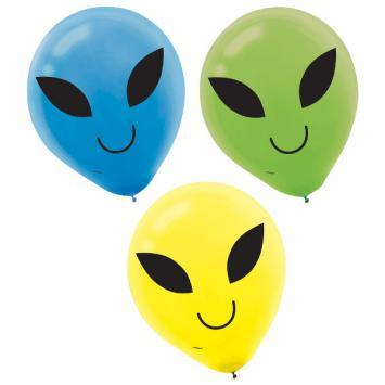Blast Off Latex Balloons 15ct - Amscan