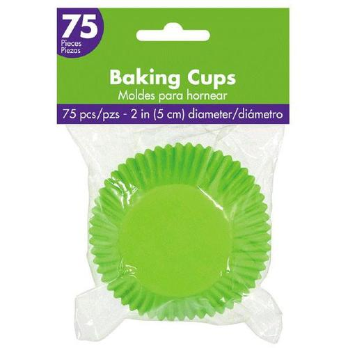 Cupcake Cases Kiwi 75ct - Amscan