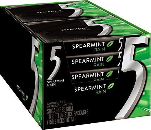 Five React Spearmint Gum 10/15