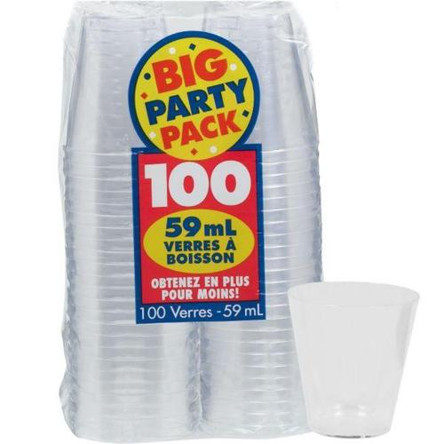 Shot Glasses Clear 100ct - Amscan