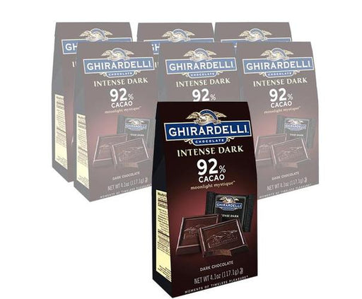 Moonlight Intense Dk Cacao Sqs Bag 6/4.1oz - GHIRARDELLI CHOCOLATES