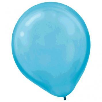 Latex Balloons 72ct Caribbean Blue Pearlized - Amscan