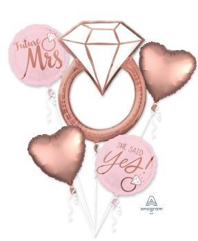Blush Wedding Balloon Bouquet - Anagram