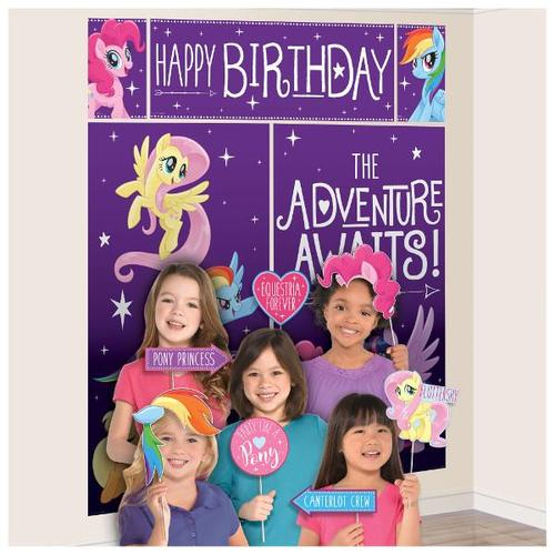 My Little Pony Friendship Adventures Scene Setter with Photo Props - Amscan