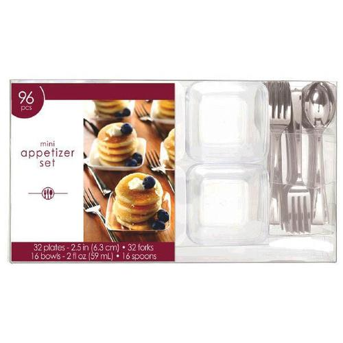 Mini Plastic Appetizer Set 96ct