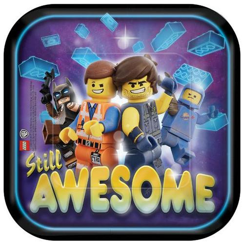 Lego Movie 2 Dessert Plates 8ct - Amscan
