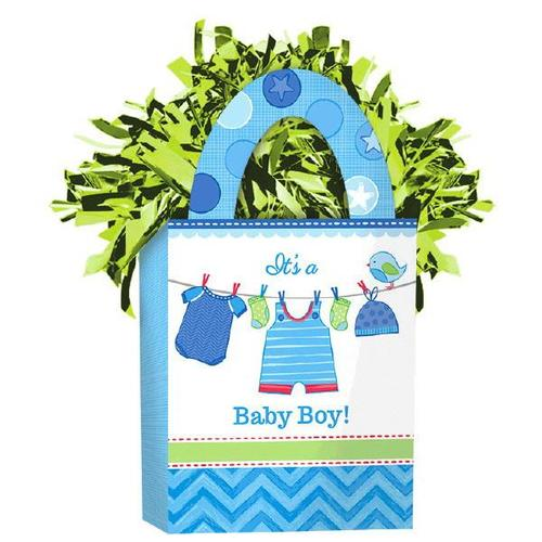 Shower Boy Mini Tote Balloon Weight - Amscan