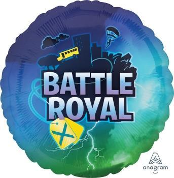 "17"" Battle Royal Foil Balloon - Flat - Anagram"
