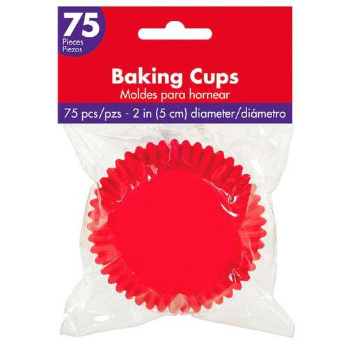 Cupcake Cases Apple Red 75ct - Amscan