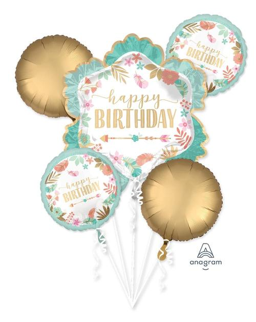 Boho Birthday Girl Balloon Bouquet - Anagram