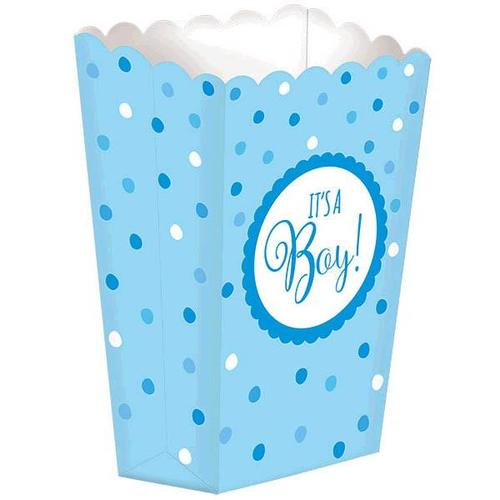 Baby Shower Popcorn Boxes Blue