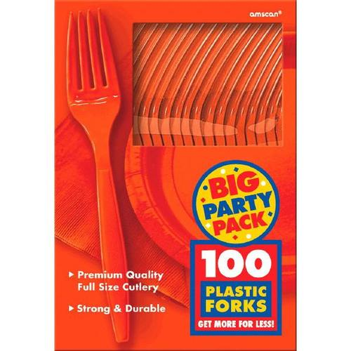 Orange Peel Forks 100ct - Amscan