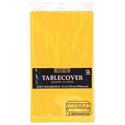 "Yellow Sunshine 54""X108"" Rectangular Plastic Table Cover - Amscan"