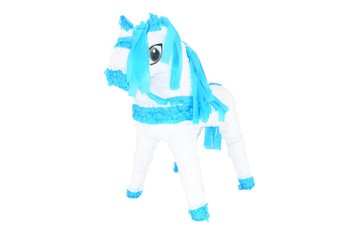 Horse-White/Blue Piñatas - Piñata District