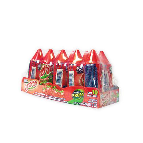 Crayon Strawberry 12/10ct - Case