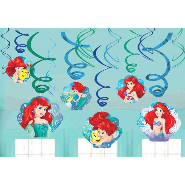 Ariel Dream Big Swirl Decorations - Amscan