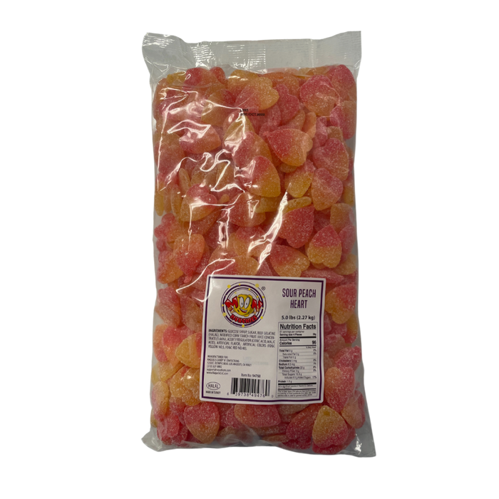 Moon Munchies Sour Peach Hearts 4/5lb - Case - Moon Munchies