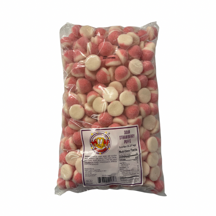 Moon Munchies Sour Pink Strawberry Puffs 4/5lb - Case - Moon Munchies