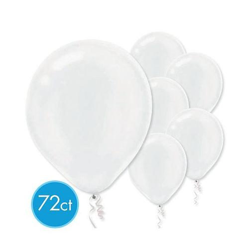 Latex Balloons 72ct White Pearlized - Amscan