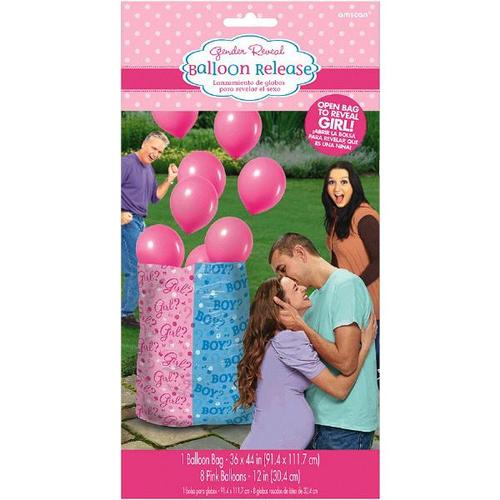Gender Reveal Balloon Gift Sack Girl