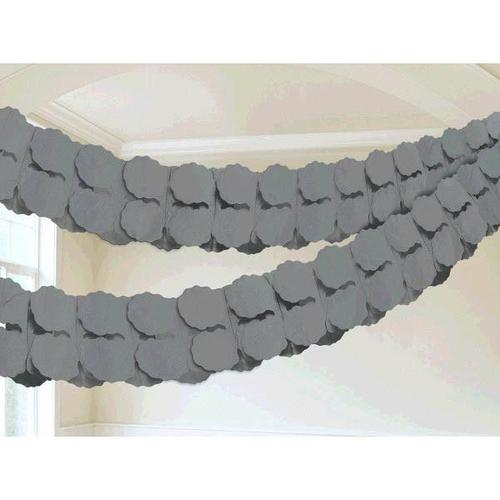 Silver Paper Garland - Amscan