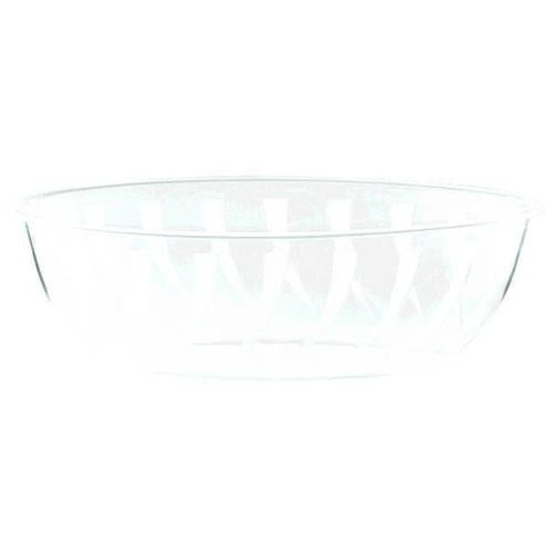 Plastic Clear Oval Swirl Bowl 2.3qt