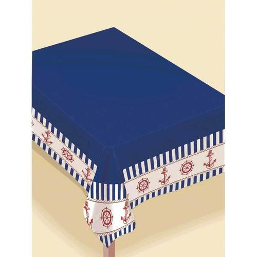 Nautical Flannel Back Table Cover - Amscan