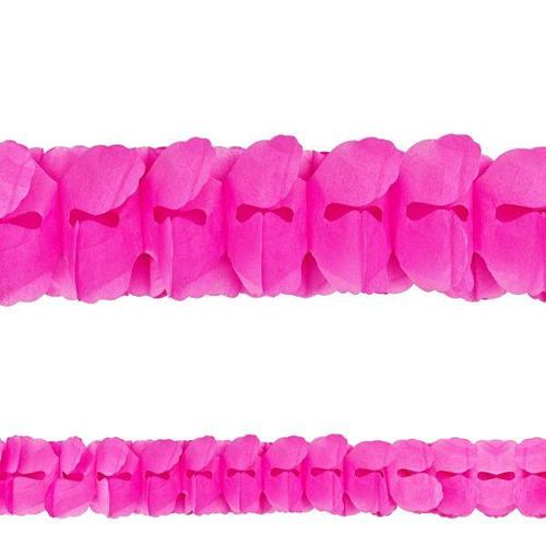 Bright Pink Paper Garland - Amscan