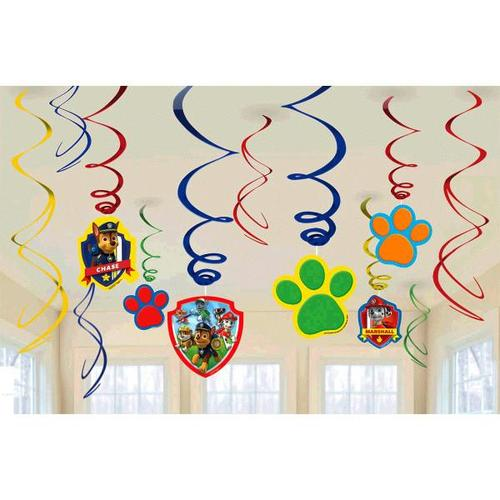 Paw Patrol Swirl Decorations 12ct - Amscan
